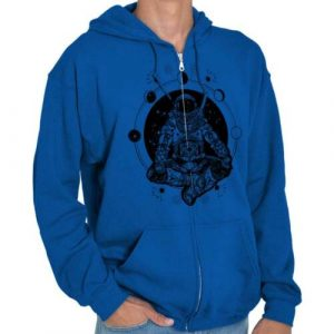 Cosmos Astronaut Mystic Symbolic Space Gift Adult Zip Hoodie Jacket Sweatshirt
