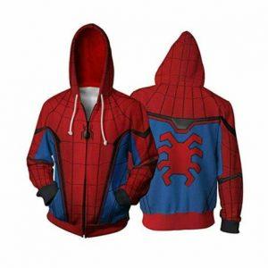 Spider Man Far From Home Peter Parker Spiderman Jacket Costume Hoodie Sweatshirt