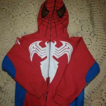 Spiderman Full Zip-Up Red Hoodie Sweater Jacket
