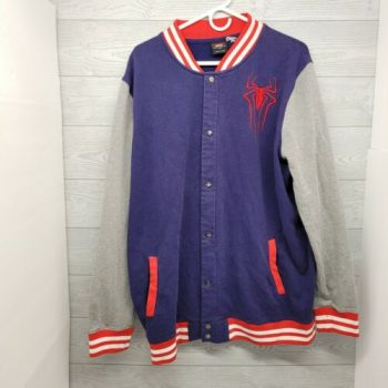 Marvel Amazing Spiderman Varsity Sweater Jacket Men's