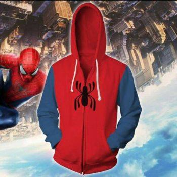 Spider-Man Hoodie Superhero Cosplay Jacket