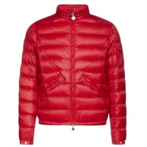 Moncler Men's Quilted Jacket in Red