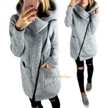 Women's Slim Trench Winter Coat Wool Overcoat Warm Long Jacket Parka