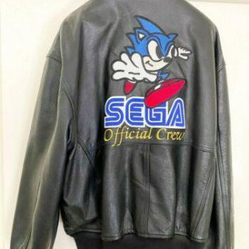 Vintage Sega Sonic The Hedgehog Leather Jacket