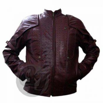 Guardians of the galaxy Chris Pratt Star Lord Stylish Leather Jacket