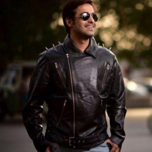 Ghost Rider Movie - Men Biker Leather Jacket