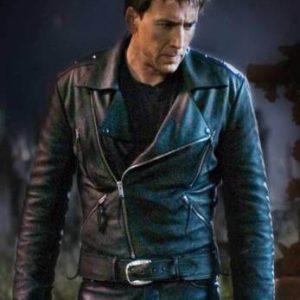 Nicolas Cage Ghost Rider Slim Fit Biker Real Black Leather Jacket