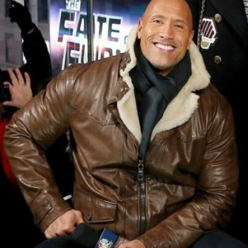 Dwayne Johnson Fast and Furious 8 Brown Fur Leather