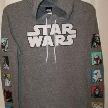 Star Wars Characters Distress Style Print Hoodie Jacket