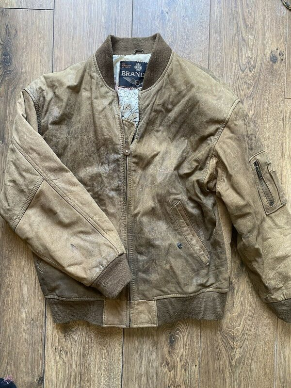 Aviator Bomber Jacket M 42 Brown Leather A-2 Air Force