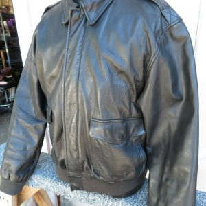 Aviator Bomber Jacket Polo Ralph Lauren Black Leather A2